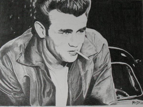James Dean by Rdavis63